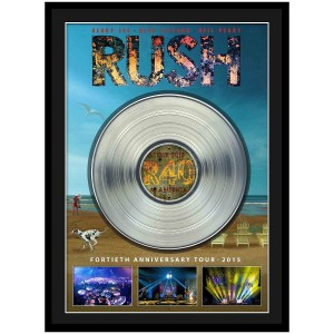 Rush Framed 40th Anniversary Tour with Platinum LP