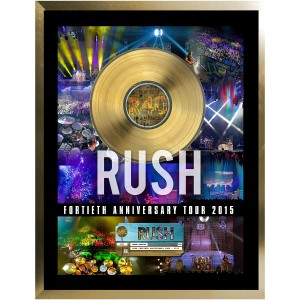 Rush Framed 40th Anniversary Tour with Gold 45