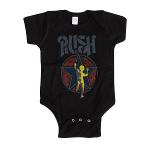 Rush Stencil Starman Baby Onesie