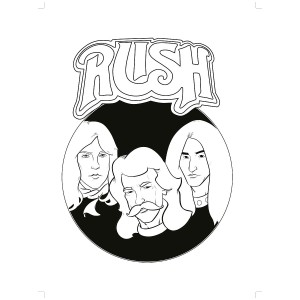Rush Coloring Book & Rush Color Pencil Set