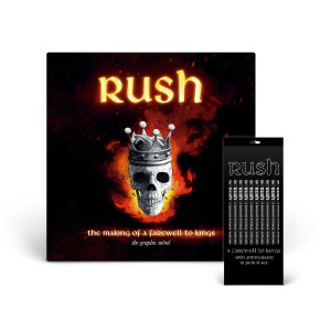 RUSH: The making of a Farewell to Kings: The Graphic Novel & Rush Black Pencil Set Bundle