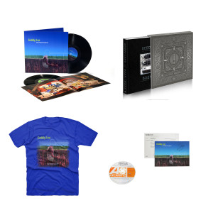 Geddy Lee - My Favourite Headache 2LP Vinyl + Luxe Limited Edition - Geddy Lee's Big Beautiful Book of Bass + Geddy Lee Favorite Blue Tee + Promo CD from the Archives + Autographed MFH Postcard
