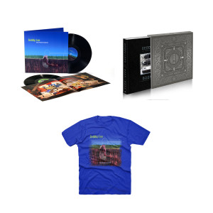 Geddy Lee - My Favourite Headache 2LP Vinyl + Luxe Limited Edition - Geddy Lee's Big Beautiful Book of Bass + Geddy Lee Favorite Blue Tee