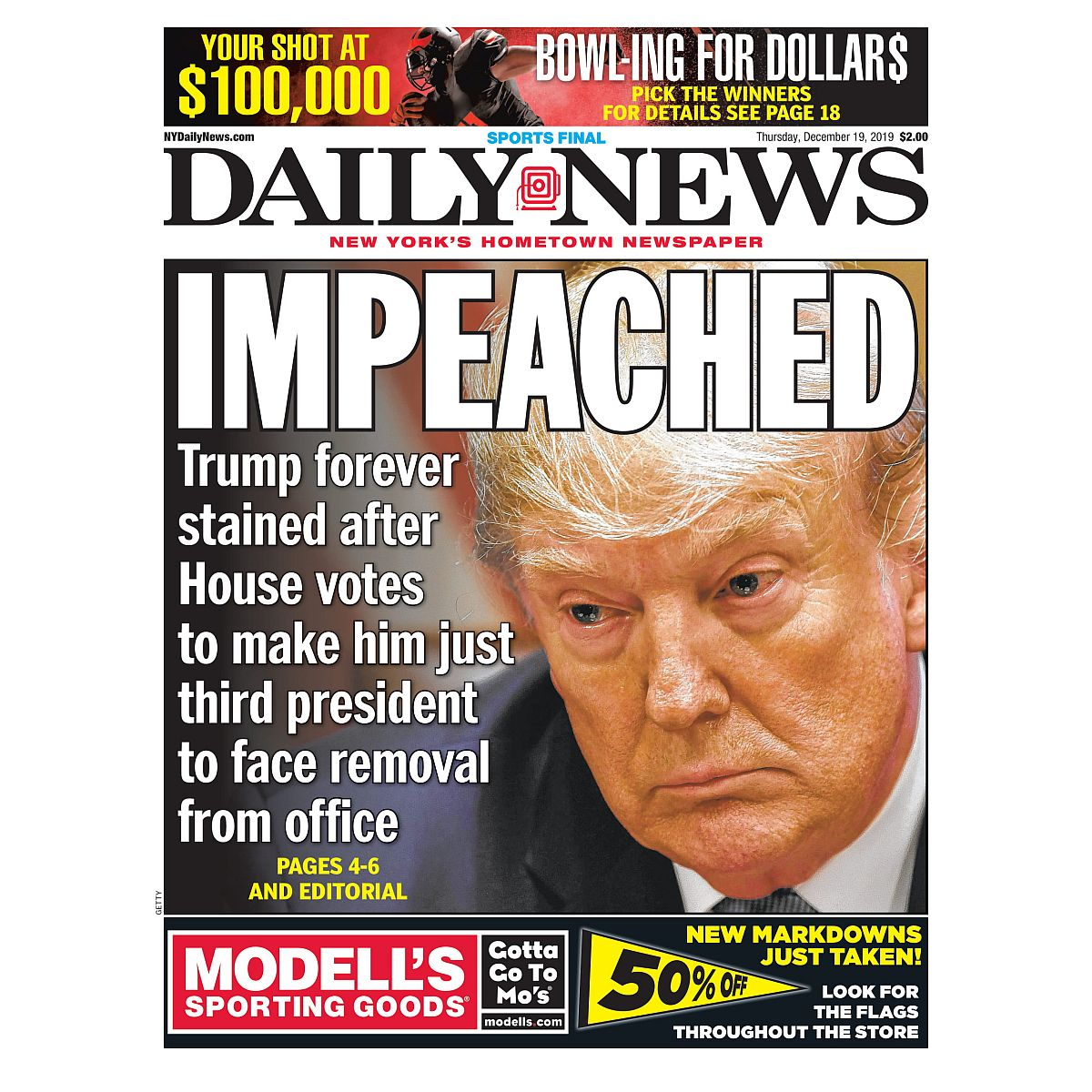 """""""IMPEACHED"""" 12/19/2020 Page Print"""