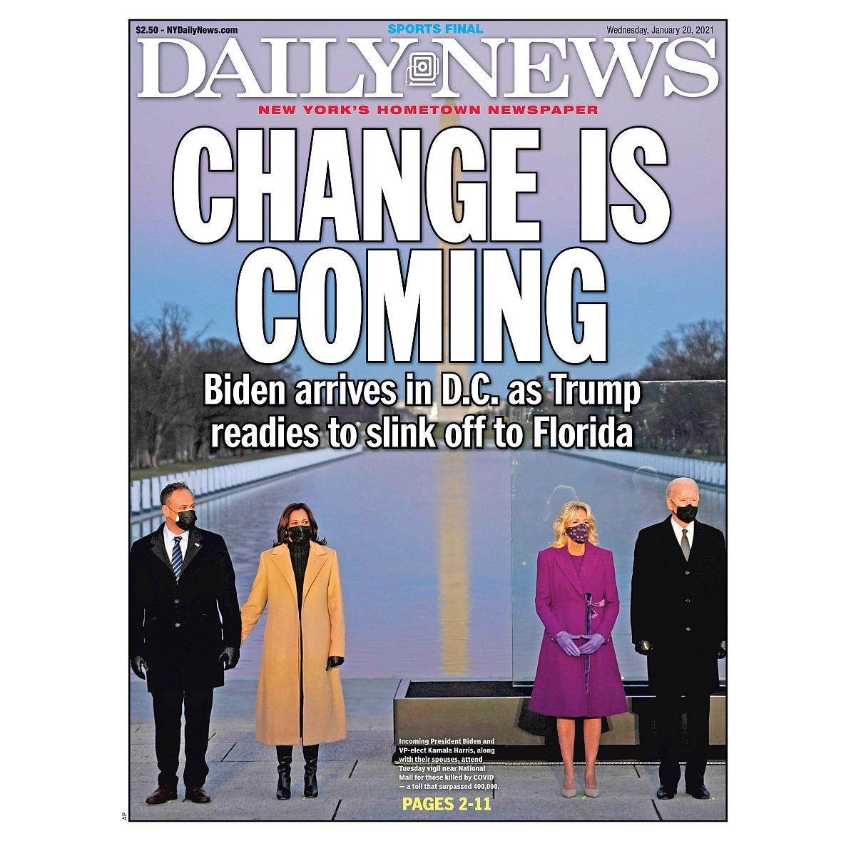 """""""CHANGE IS COMING"""" 1/20/2021 Page Print"""