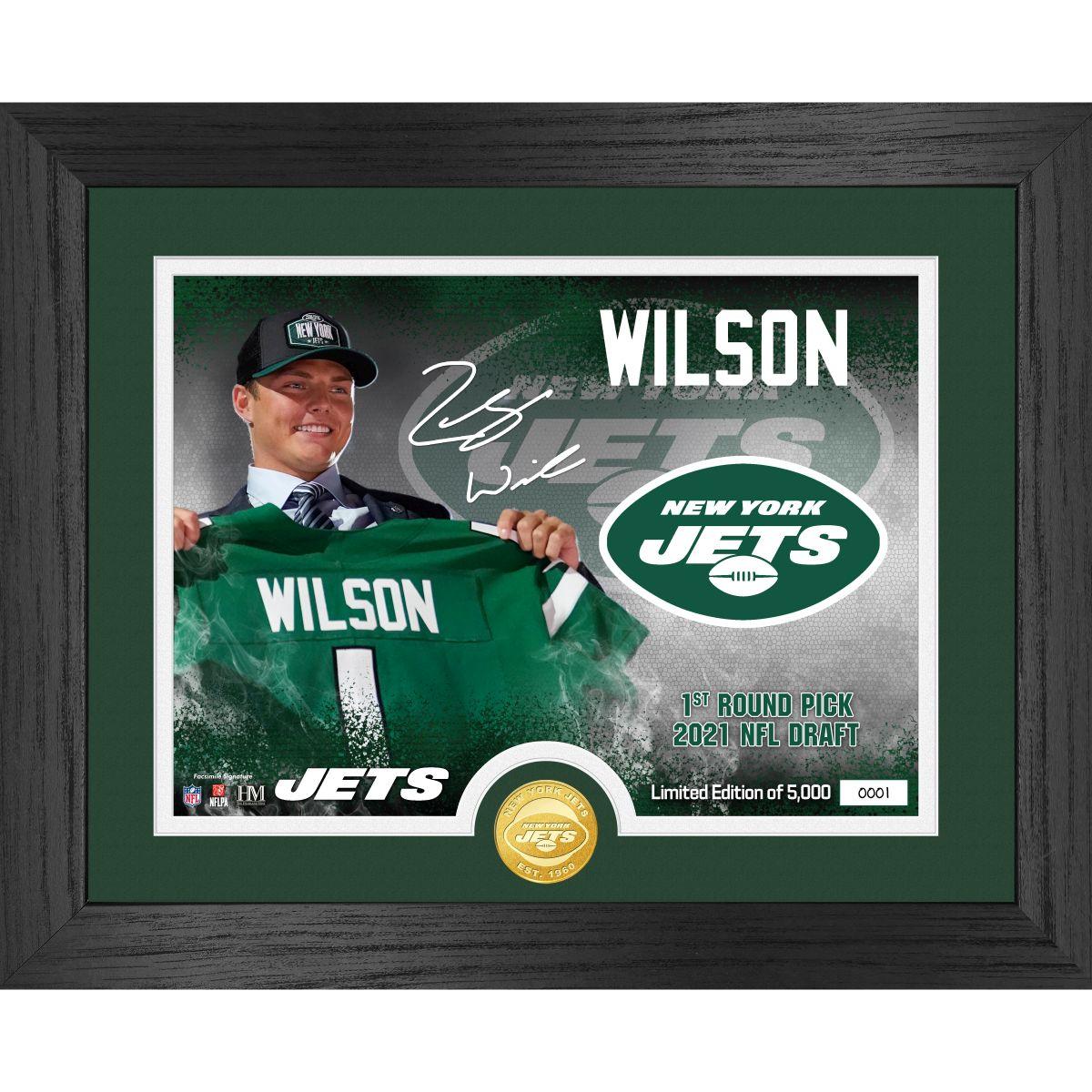 Zach Wilson 2021 NFL Draft Bronze Coin Photo Mint