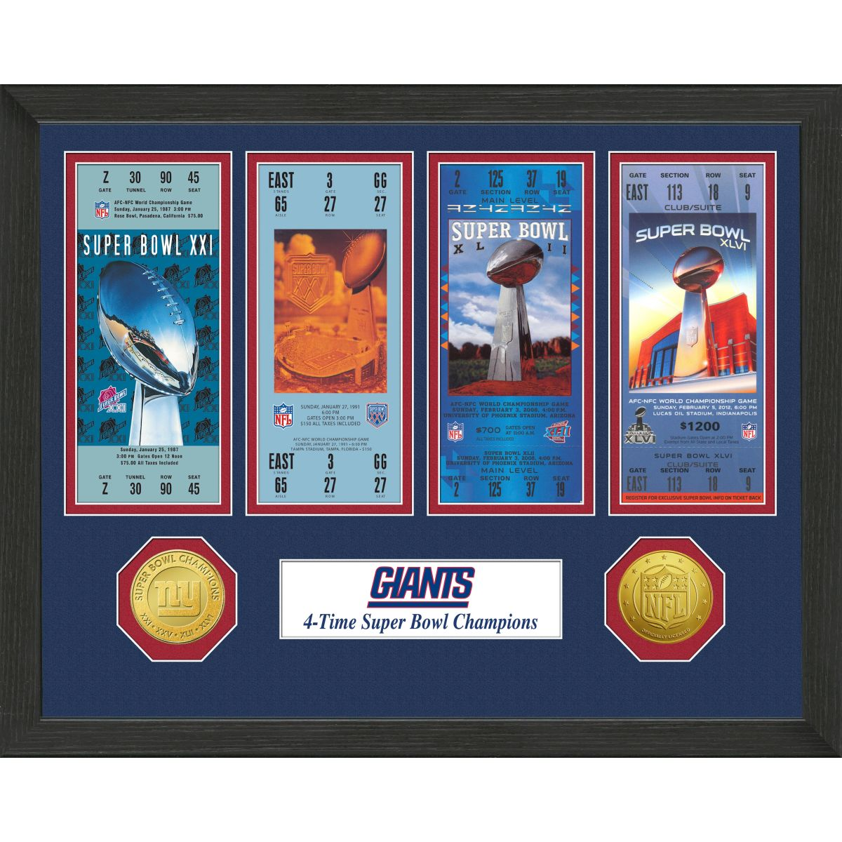 New York Giants SB Championship Ticket Collection