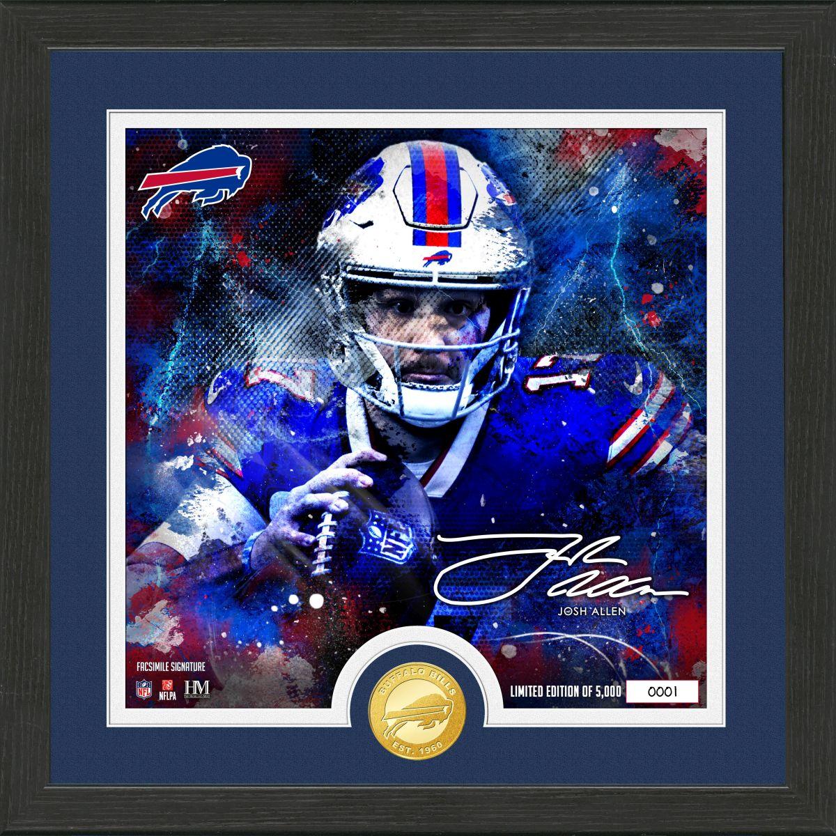 "Josh Allen ""Surge"" Bronze Coin Signature  Photo Mint"
