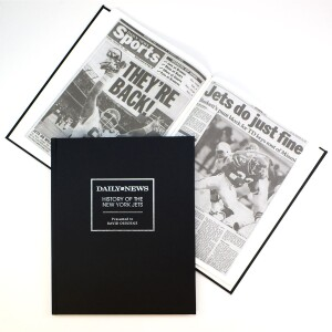 """""""History of the New York Jets"""" Newspaper Book"""
