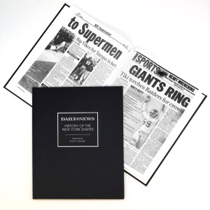 """""""History of the New York Giants"""" Newspaper Book"""