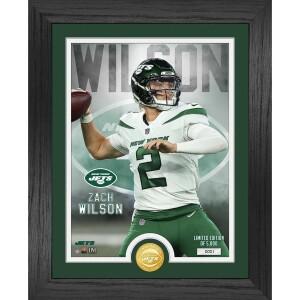 Zach Wilson New York Jets Rookie Bronze Coin Photo Mint