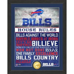 Buffalo Bills House Rules Bronze Coin Photo Mint