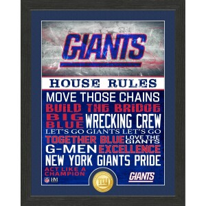 New York Giants House Rules Bronze Coin Photo Mint