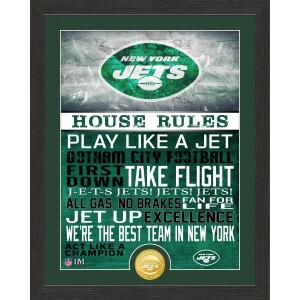 New York Jets House Rules Bronze Coin Photo Mint