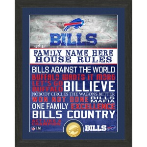 Personalized Buffalo Bills House Rules Bronze Coin Photo Mint
