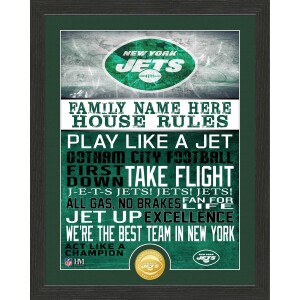 Personalized New York Jets House Rules Bronze Coin Photo Mint