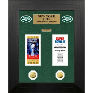 New York Jets Super Bowl Champions Deluxe Gold Coin & Ticket Collection