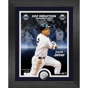 Derek Jeter Hall of Fame Induction Silver Coin Photo Mint