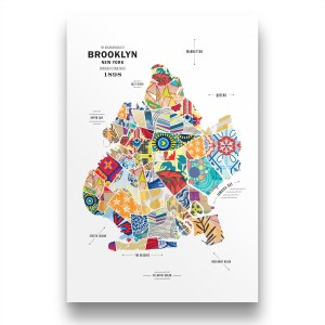 Brooklyn Map Print Poster