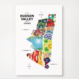 Hudson Valley Map Print Poster
