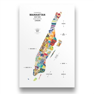 Manhattan Map Print Poster