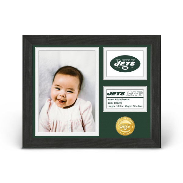 New York Jets Baby MVP Personalized Photo Frame | Shop the Hartford ...