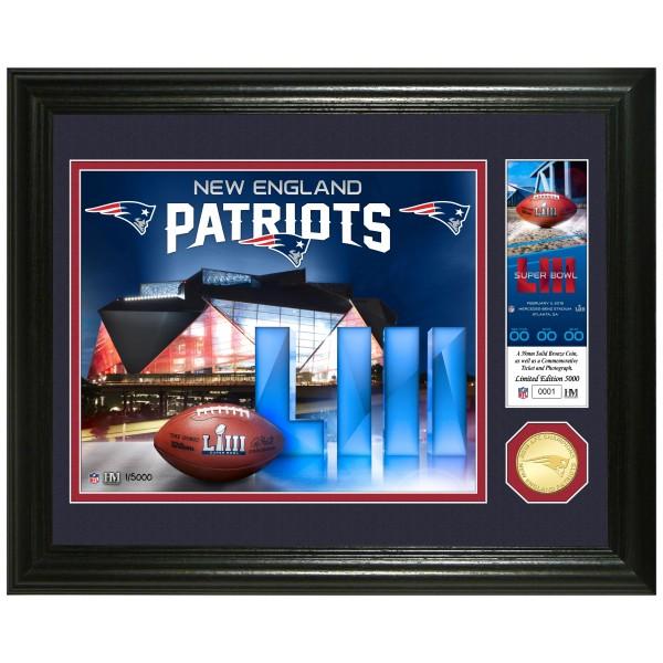 21460534755 New England Patriots 2018 AFC Champions Bronze Mint Coin Photo Mint