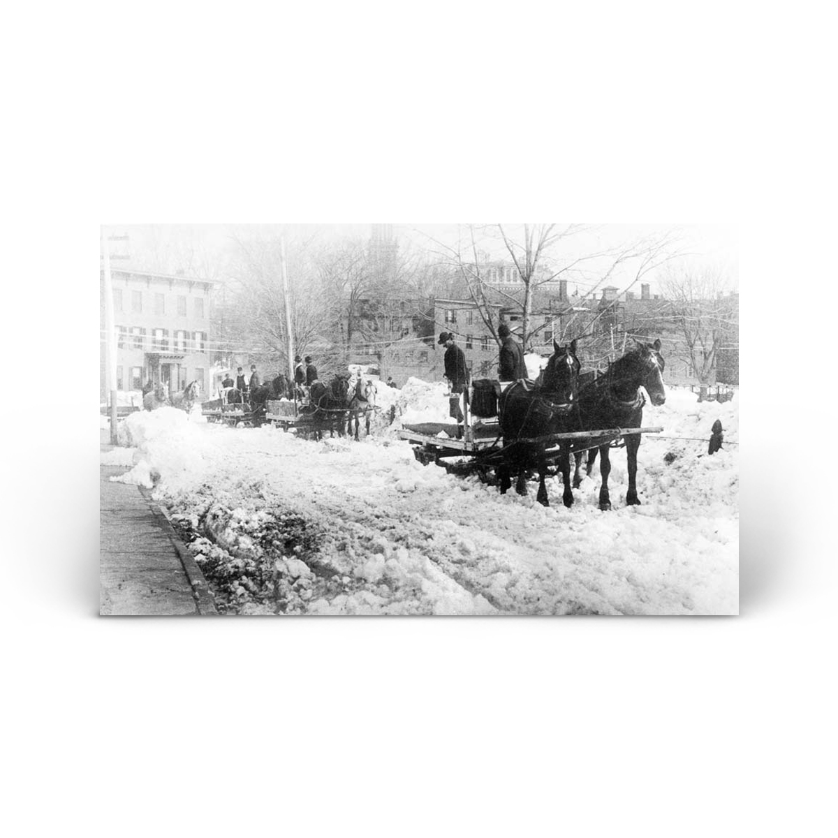 Historical Photos: 1888 Blizzard - Carting Snow