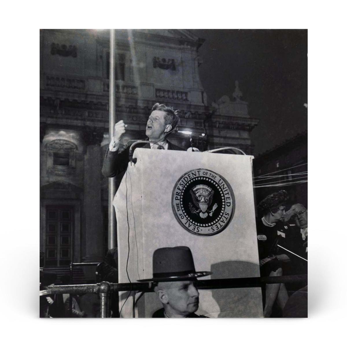 Historical Photos: John F. Kennedy at Democratic Rally