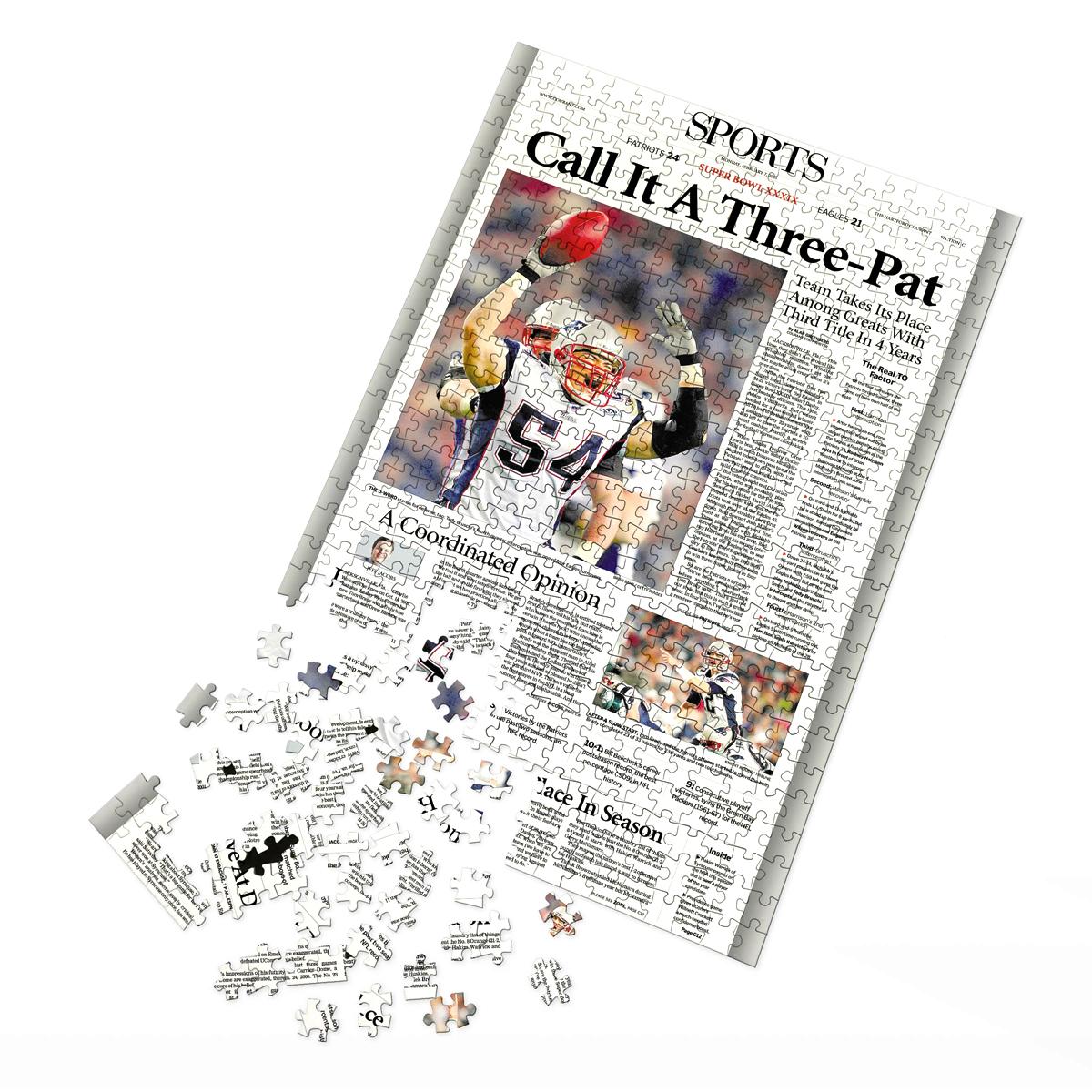 New England Patriots Super Bowl XXXIX Championship Jigsaw Puzzle