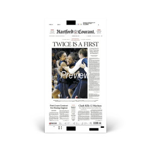 2004 UConn Women's Basketball Championship Hartford Courant Front Page Reprint