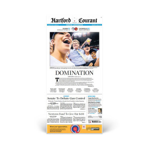 2013 UConn Women's Basketball Championship Hartford Courant Front Page Reprint