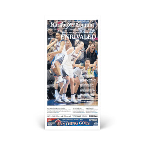 2016 UConn Women's Basketball Championship Hartford Courant Front Page Reprint