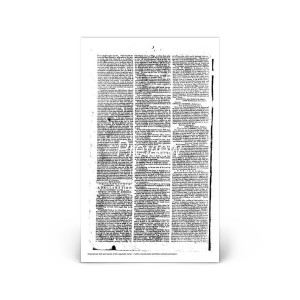 Commemorative Front Page: Declaration of Independence