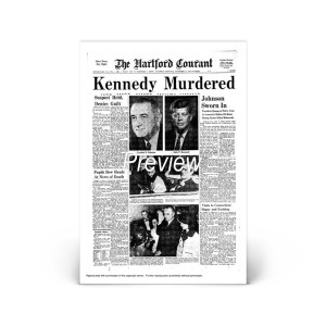 Commemorative Front Page: Kennedy Murdered