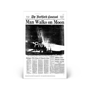 Commemorative Front Page: Man on the Moon