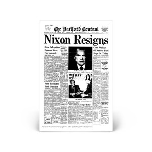 Commemorative Front Page: Nixon Resigns