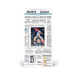 Commemorative Front Page: Patriots Super Bowl LI Victory