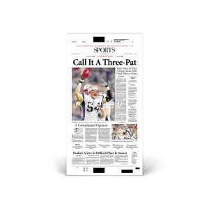 Commemorative Front Page: Patriots Win Superbowl XXXIX
