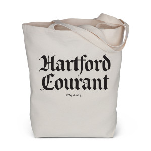 Hartford Courant Stacked Logo Tote Bag