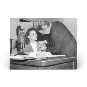 Historical Photos: Katharine Hepburn at WTIC Radio