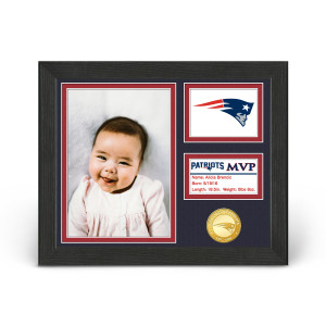 New England Patriots Baby MVP Personalized Photo Frame