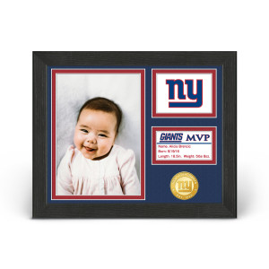New York Giants Baby MVP Personalized Photo Frame