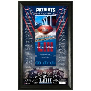 New England Patriots Super Bowl 53 Signature Ticket