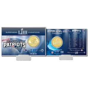 New England Patriots Super Bowl 53 Champions Bronze Coin Card