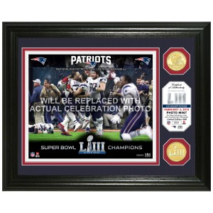 New England Patriots Super Bowl 53 Champions Celebration Bronze Coin Photo Mint