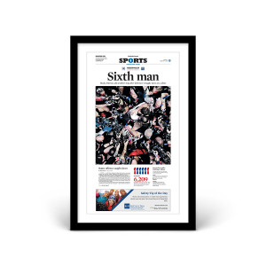 New England Patriots 2018 Super Bowl LIII Front Page Print