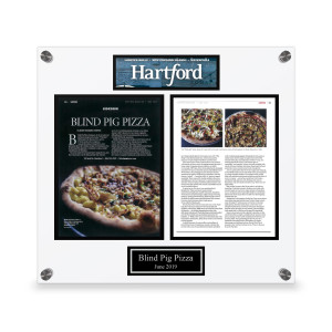 Hartford Magazine Custom Article Plaque