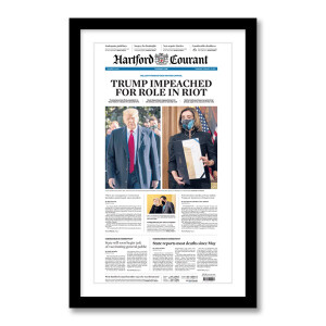 """""""Trump Impeached for Role in Riot"""" 1/14/2021 Page Print"""