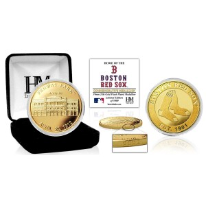 "Boston Red Sox ""Stadium"" Gold Mint Coin"